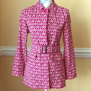 🌷Gap🌷Pink Flowery Trench Coat with Belt